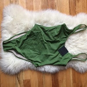 Other - High Cut Low Back One Piece Swimwear Bathing Suit